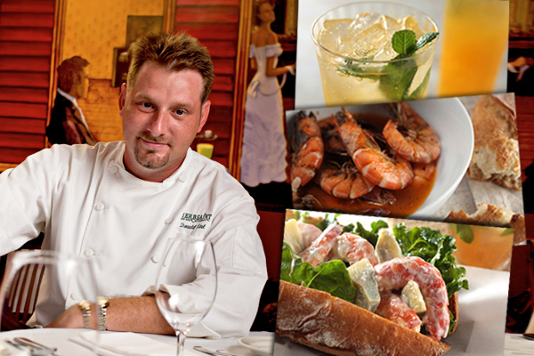 Donald top 10 chefs in New Olreans