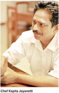 Chef Kapila Jayanetti famous chefs in Sri lanka