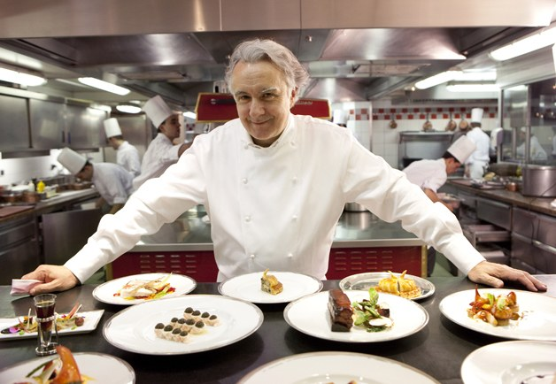 Alain Ducasse top 10 chefs in Hong Kong as celebrities